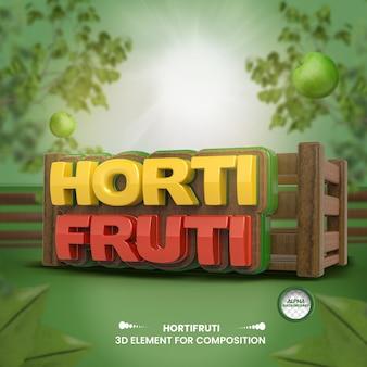 3d label grocery store composition for supermarket campaign portuguese