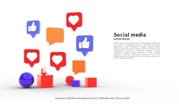 3d шаблон целевой страницы активности в социальных сетях
