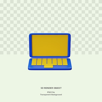 3d laptop icon illustration object rendered premium psd