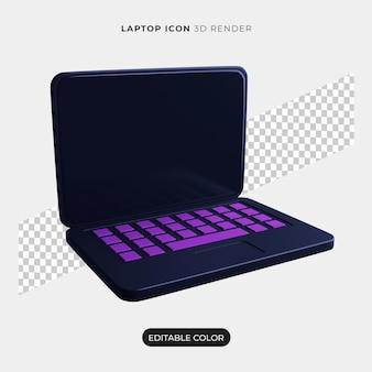 Значок 3d ноутбука изолированные