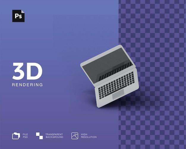 3d-иллюстрация ноутбука
