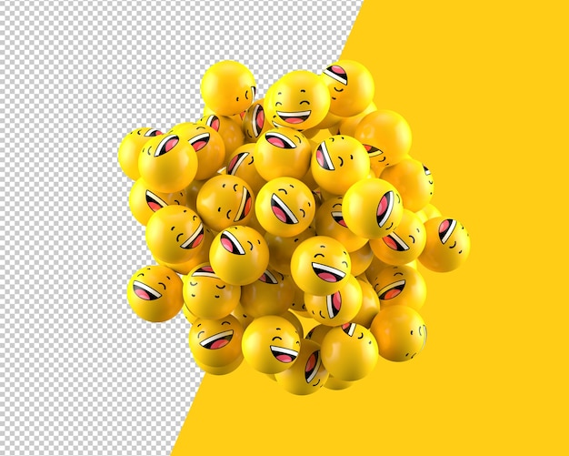 3d laughing spheres icon