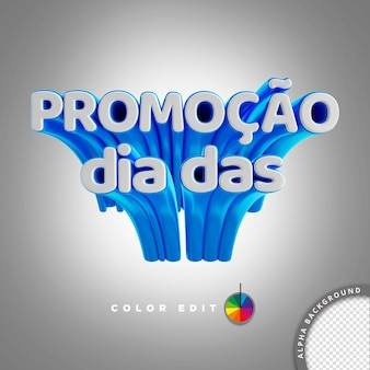 3d lettering for psd composition brazil childrens day promotion