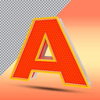 3dレターエフェクトスタイルカラーオレンジ