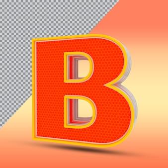 3d文字bエフェクトスタイルカラーオレンジ