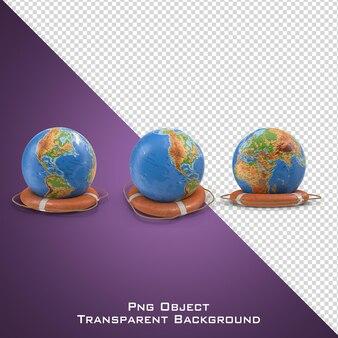 3d спасатель и форма глобуса изолированы