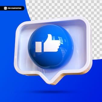 3d like social media