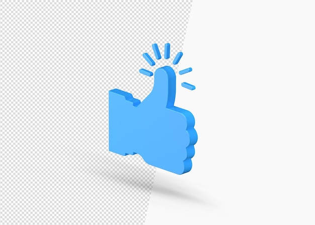 3d like symbol or thumbs up or recommended icon