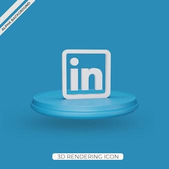 3d linkedin 렌더링 아이콘