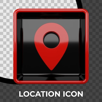 Значок местоположения 3d изолированные 3d значок
