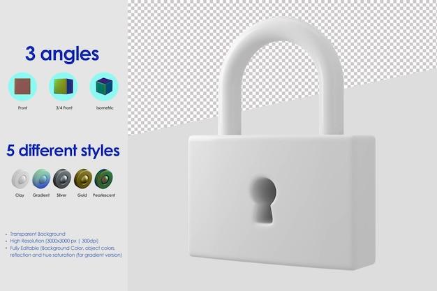 Icona di blocco 3d