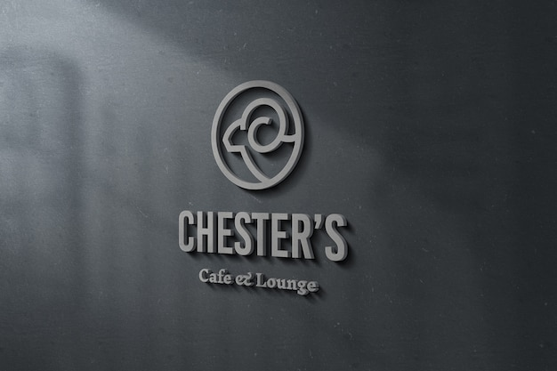 3d логотип и знак макет
