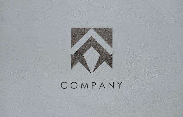 3d logo mockup for business company