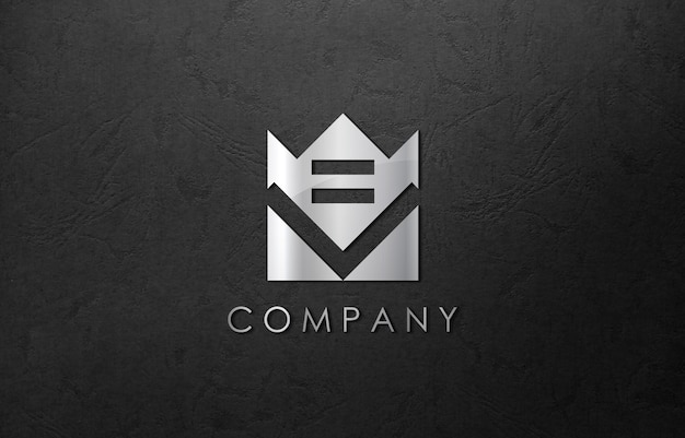 3d logo mockup business company Premium Psd
