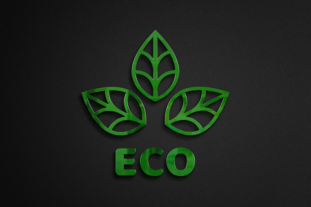 3d logo mockup eco theme