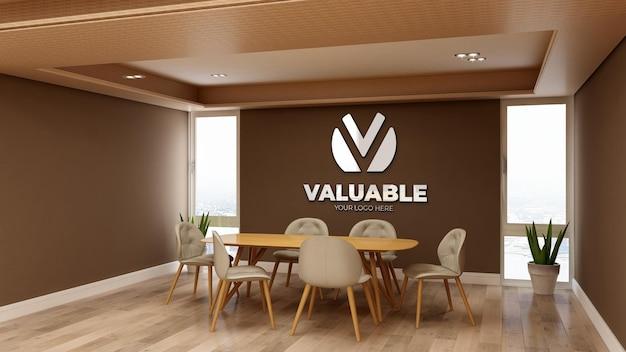 사무실 비즈니스 회의실에서 3d 로고 모형