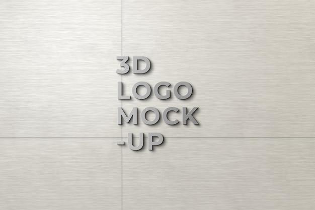 壁の3dロゴモックアップ