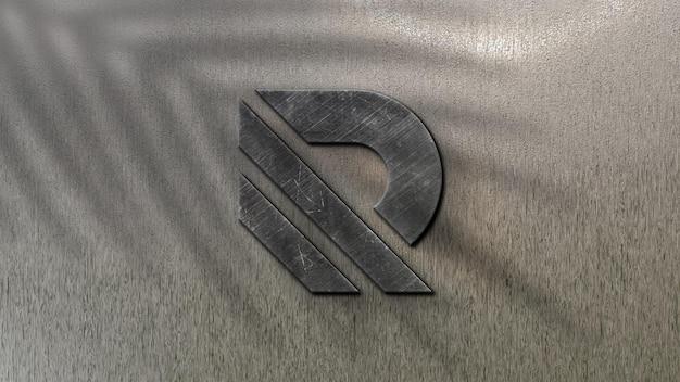 3d макет логотипа на стене