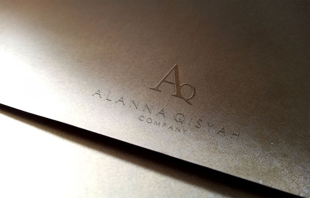 3d logo mockup on paper