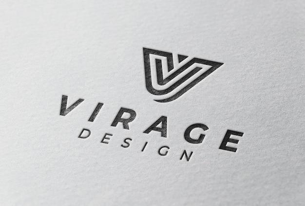 3d logo mockup white logo on office wall