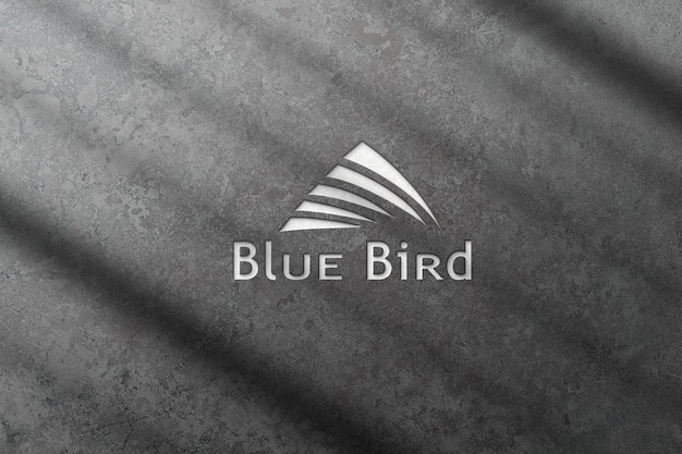 3d logo mockup with cement texture