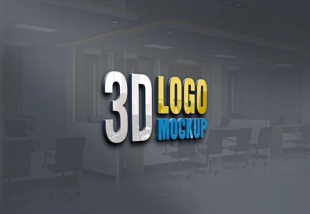 3dロゴのモックアップ