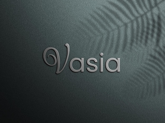 3d logo on solid background Premium Psd
