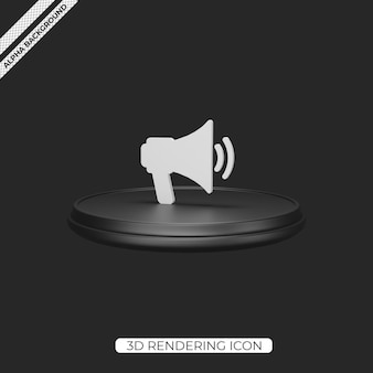 3d loudspeaker render icon isolated