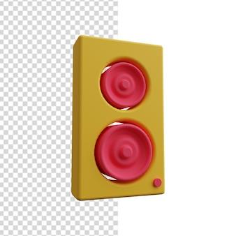 3dスピーカーアイコン。 3dスピーカーのイラスト。