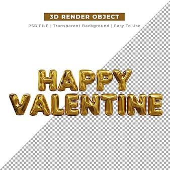 발렌타인 퇴비화에 대한 3d 사랑