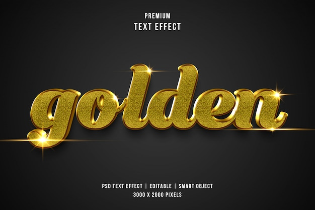 3d luxury golden text effect