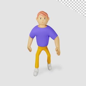 3d мужской персонаж гуляет