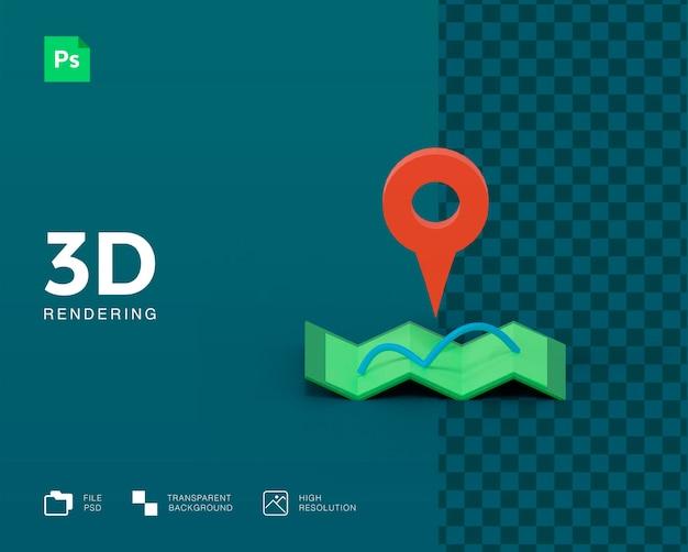 Значок 3d-карты