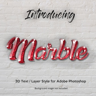 3d marble granite textured photoshop layer style text effects