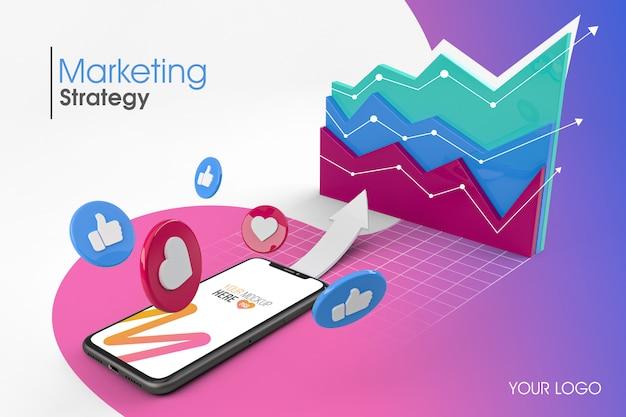 3d-макет маркетинговой стратегии