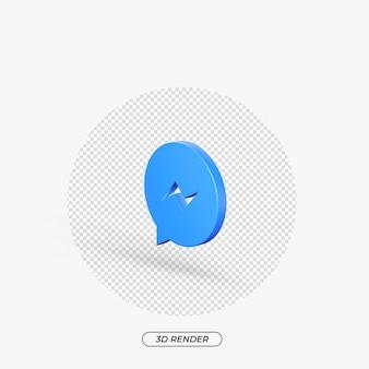 3 d マッセンジャー アイコンのリアルなレンダリング