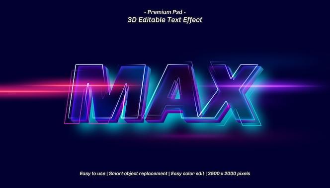 3d max редактируемый текстовый эффект