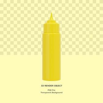 3d бутылка майонеза иллюстрирует объект визуализации премиум psd