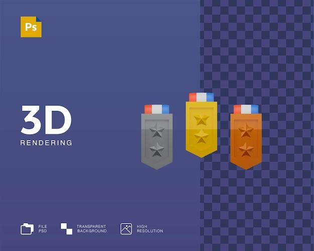 3d медаль иллюстрация