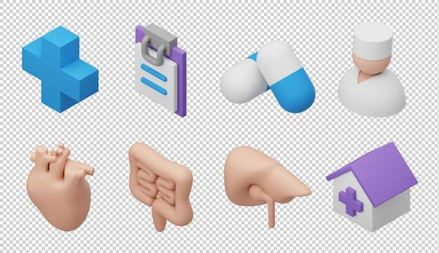 3d медицинские иконки