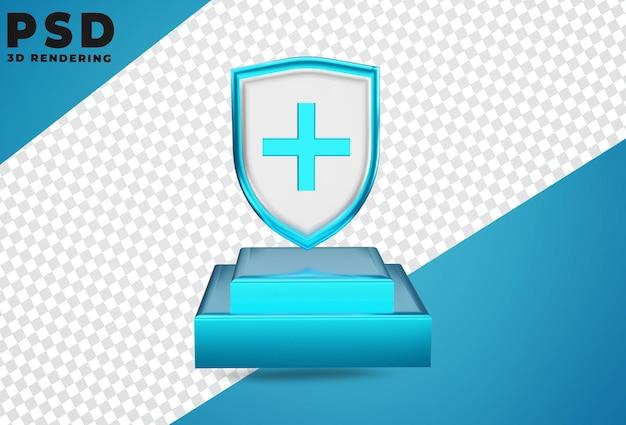 3d медицинская защита здравоохранения щит изолированы
