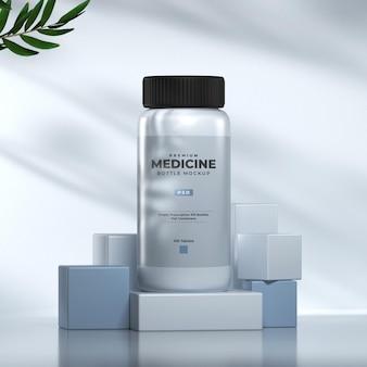 3d-макет бутылки с лекарством или косметикой
