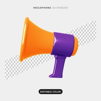 Дизайн иконок 3d мегафон изолированные