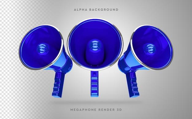 3d-мегафон в 3d-рендеринге