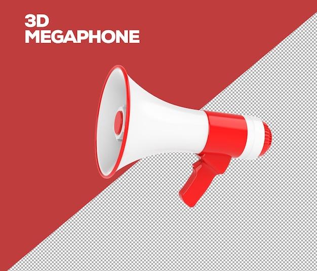 3d минималистский мегафон 3d рендеринг