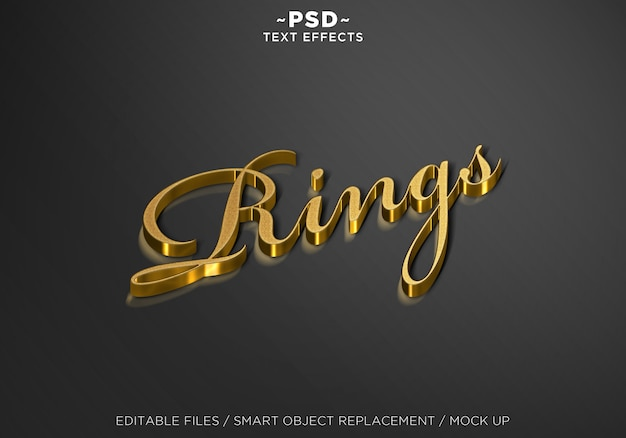 3d mock up ring style editable text effects