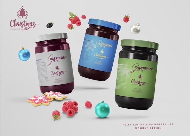 3d mockup honey glass food jar for product presentation