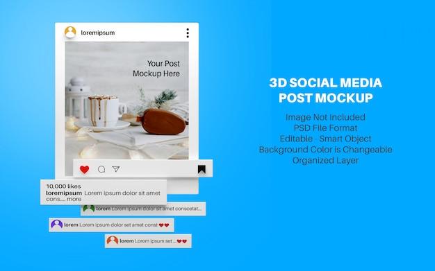 3d mockup for instagram social media post