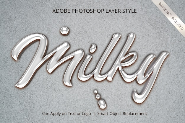 3d mockup text effect style