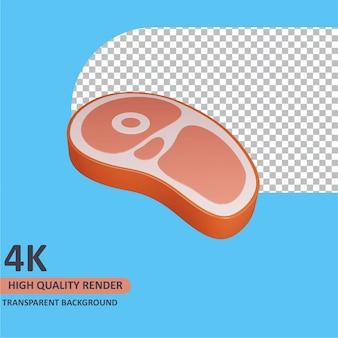 고기 조각을 렌더링하는 3d 모델